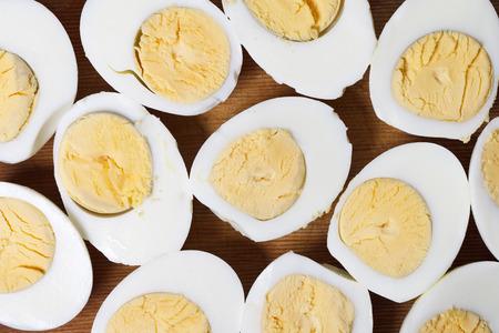 卵卵黄タンパク質マクロ 写真素材