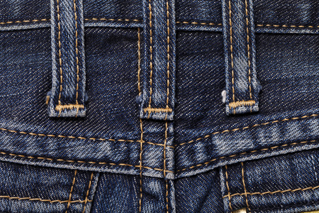 loops: Jeans close-up of texture seam loops Stock Photo