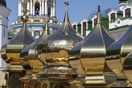 historica: golden church domes of various shapes