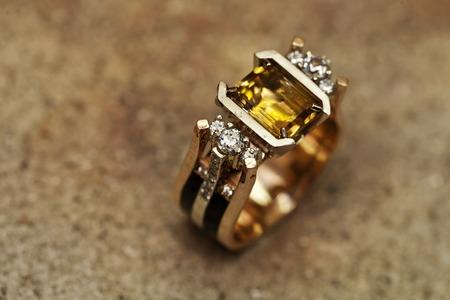 authorship: Zaporozhye , Ukraine  5  February , 2015 : master jeweler Melnikov makes products