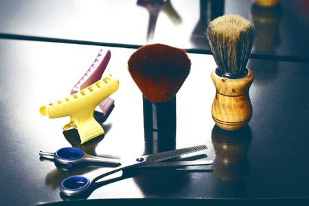 upsweep: a barber tool close up