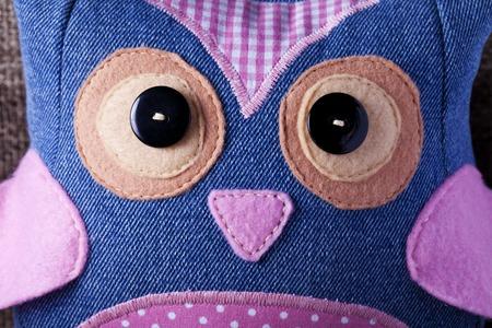 sewn: Owl handmade sewn close up