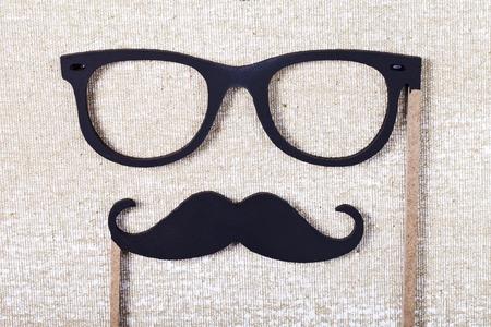 結婚式小道具口ひげ、メガネ 写真素材 - 44419824