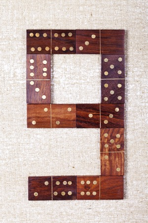 winning location: Domino numbers  set 0-9 light background