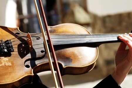 音楽家, バイオリン, クローズ アップ 写真素材