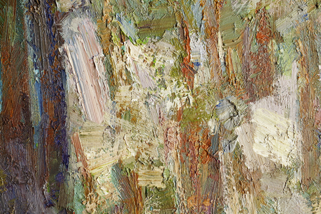 colorful oil paint texture closeup