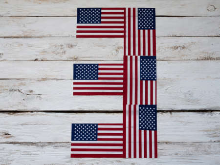 November 3 is the day of the US presidential election. Numeral 3 from American flags