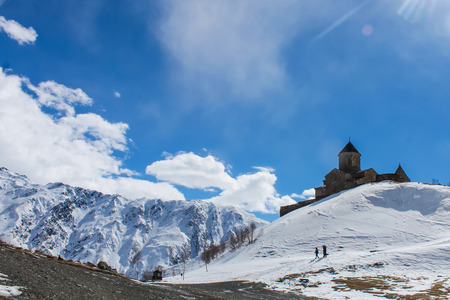 georgian: georgian church and blue sky