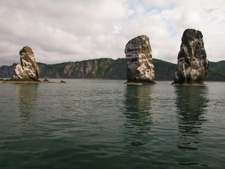 kamchatka: Three brother rocks, Avacha bay, Kamchatka, Russia