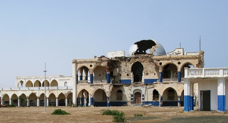 Ruins of former Haile Selassie residence in Massawa, Eritrea