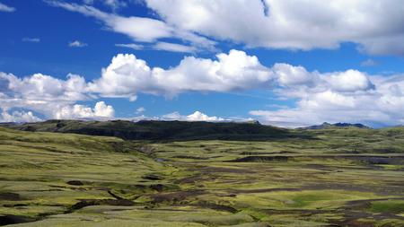 Landscape of Lakagigar valley in central Iceland
