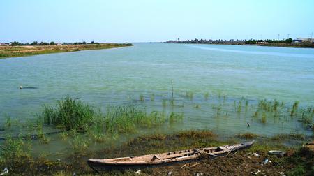 Euphrates and Tigris confluence, Shatt al-Arab, Iraq