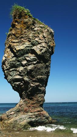 sakhalin: Cape Velikan, stone giant nature sculpture, Sakhalin Russia