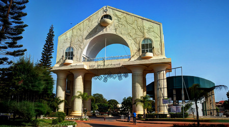 Arch 22 is the main symbol of Banjul, Gambia Editorial