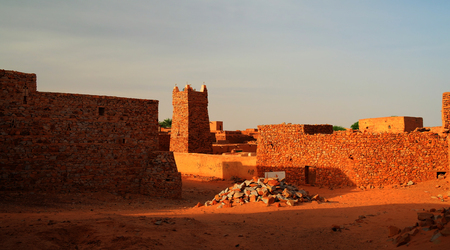 holiest: Chinguetti mosque, one of the symbols of Mauritania