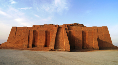 sumerian: Restored ziggurat in ancient Ur, sumerian temple in Iraq