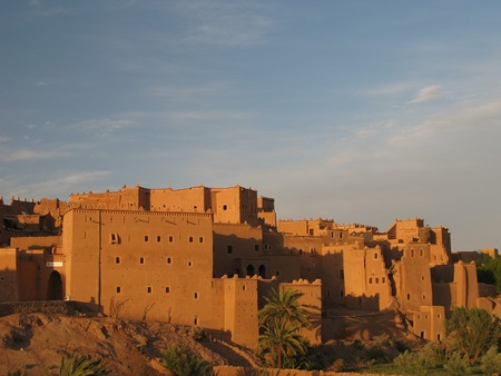 View to Ouarzazate old city aka kasbah, Morocco