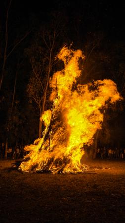 ethiopian ethnicity: Ceremony of Meskel, Holy Cross finding festival in Bahir Dar , Ethiopia