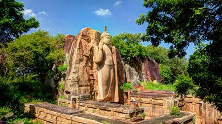 Colossal Statue of Avukana Buddha image, Sri Lanka