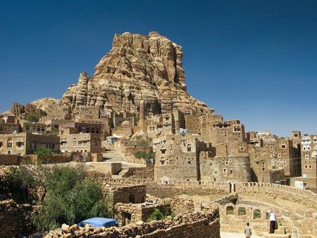 Traditional town of Thula, mountain landscape, Yemen