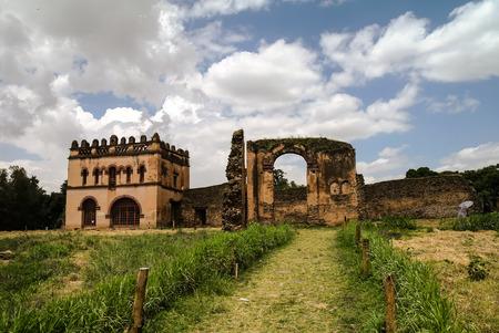 obelisk stone: Fasilidas palace in Fasil Ghebbi site , Gonder Editorial