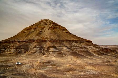 mountain oasis: Panorama with the mountain near Bahariya oasis, Egypt