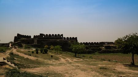 garrison: Panorama of Rohtas fortress in Punjab, Pakistan Editorial