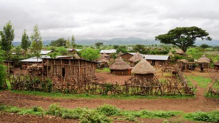Traditional Konso tribe village in Karat Konso, Ethiopia