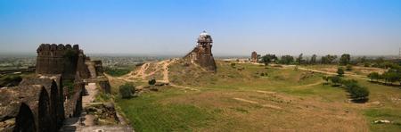 Panorama of Rohtas fortress in Punjab, Pakistan Editorial