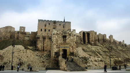 Entrance to Aleppo citadel, Syria