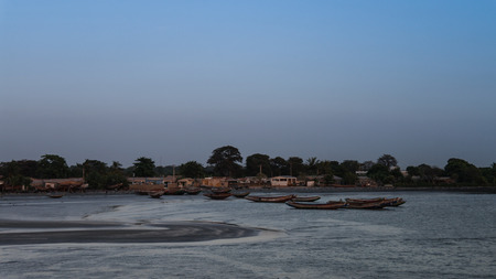 Estuary of Gambia river and fisherman bay, Gambia