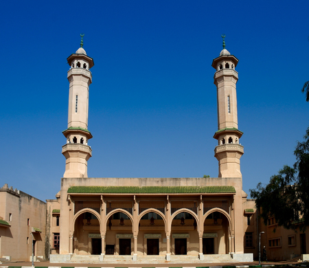 Exterior view King Fahad Mosque in Banjul, Gambia Stock Photo