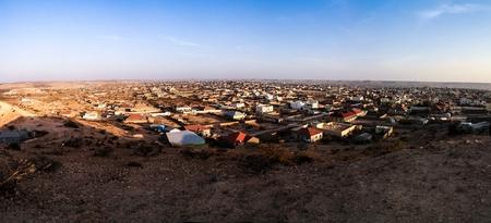 ハルゲイサ, ソマリア、ソマリランドの最大の都市を空撮 写真素材 - 72848820