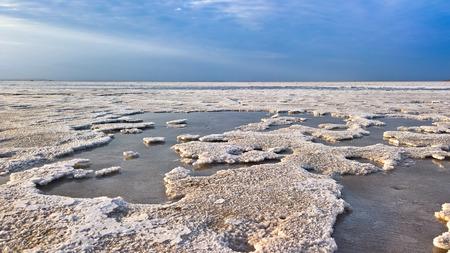 Salt Lake Karum 일명 Lake Assale 또는 Asale, Danakil Afar, 에티오피아