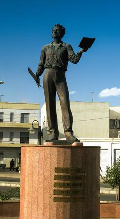 Statue of russian poet Pushkin, Asmara, Eritrea