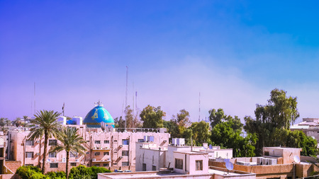 Aerial Panorama cityscape view to Baghdad, Iraq Stock Photo - 71164098