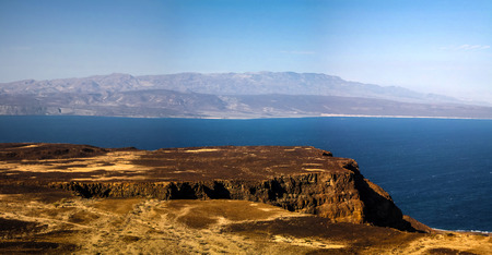 Gulf of Tadjoura and Ghoubet lake , Djibouti Stock Photo