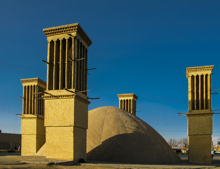Water tank with Cooling wind tower, Yazd, Iran