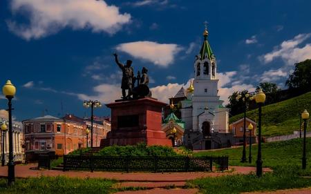 Monument of the Minin and Pozharsky, Nizhni Novgorod, Russia