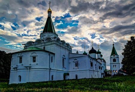 View to Orthodox Pechersky Ascension Monastery, Nizhny Novgorod, Russia