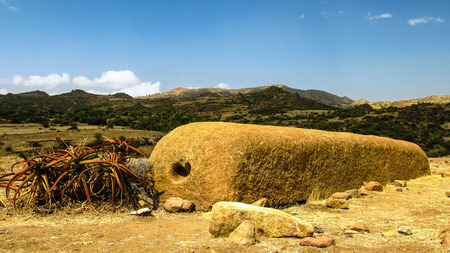 Ruins in Keskese archeological place in Eritrea Stock Photo
