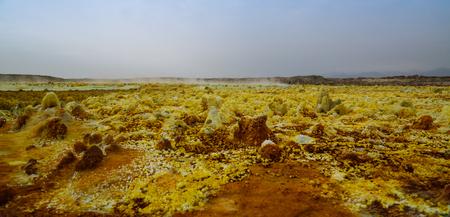 Salt structure close-up inside Dallol volcanic crater in Danakil depression Afar, Ethiopia