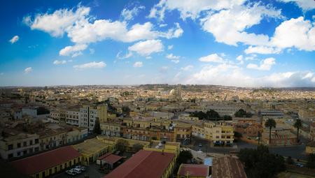 Aerial view to Asmara, the capital of Eritrea 写真素材
