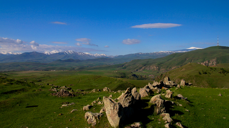archaeological: Prehistoric Zorats Karer site near Karahunj village in Armenia