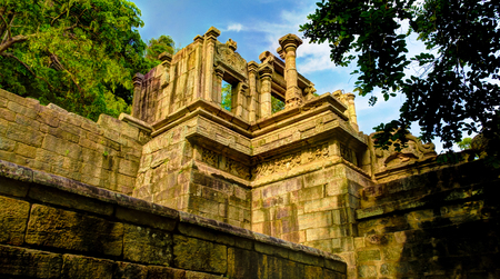 View to citadel of Yapahuwa , old capital of Sri-Lanka