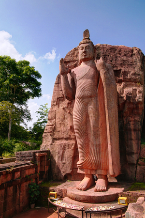 Colossal Statue of Avukana Buddha image in Sri Lanka