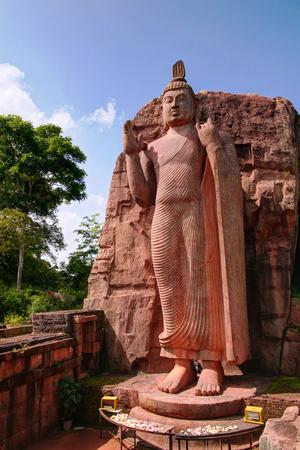 Colossal Statue of Avukana Buddha image in Sri Lanka