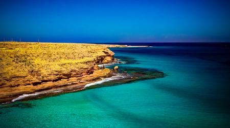 Landscape with sand Ageeba beach near Mersa Matruh, Egypt Imagens