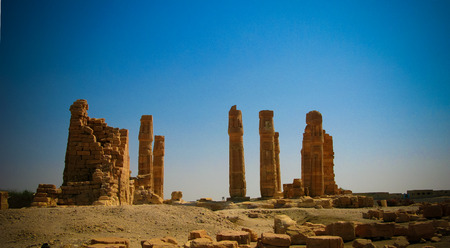Ruines of Amun temple in Soleb at Sudan