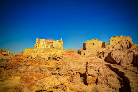 Ruins of the Amun Oracle temple in Siwa oasis, Egypt